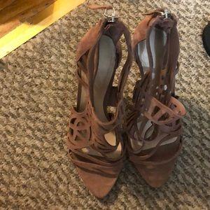 Zara mauve heels